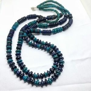 🆕Vintage 2-Strand Turquoise & Blue Bead Necklace